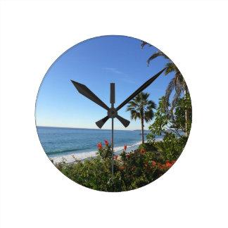 San Clemente-Strand-Uhr Runde Wanduhr
