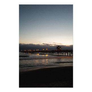 San- Clementepiernachtzeitozean Kalifornien Briefpapier