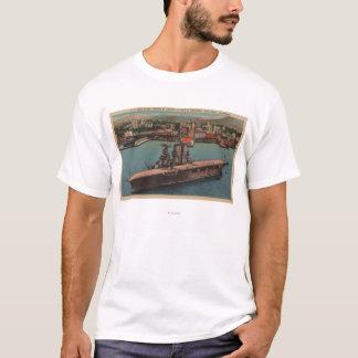 San Diego, CA - Ansicht US-Marine-Flugzeugträger T-Shirt