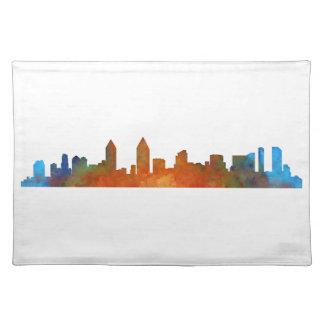 San Diego Kalifornien City Skyline Watercolor v01 Tischset