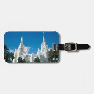 San Diego Kalifornien LDS Tempel-Gepäckanhänger Kofferanhänger