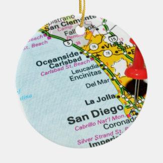 San Diego, Kalifornien Rundes Keramik Ornament