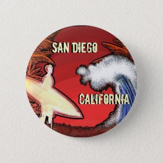 San Diego Kalifornien Surfer bewegt Kunstknopf Runder Button 5,7 Cm