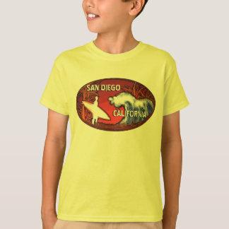 San Diego Kalifornien Surfer-Kunstt-stück Jungen T-Shirt