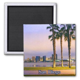 San Diego Küstenlinie Quadratischer Magnet