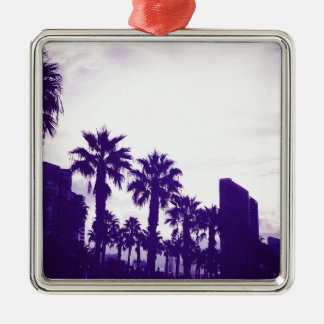 San Diego lila Quadratisches Silberfarbenes Ornament