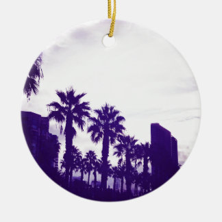 San Diego lila Rundes Keramik Ornament