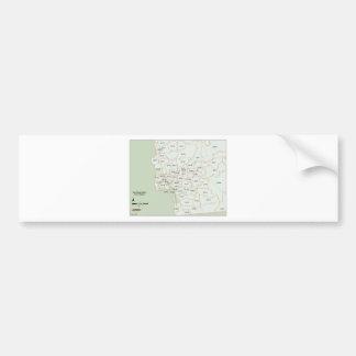 San Diego Postleitzahl-Karte Autoaufkleber
