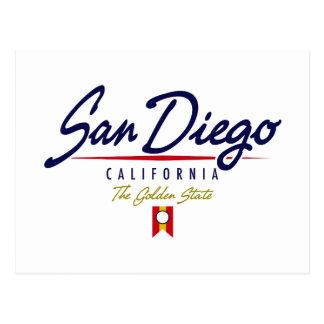 San Diego Skript Postkarte