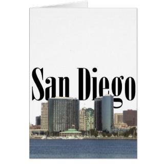 San Diego Skyline mit San Diego im Himmel Karte