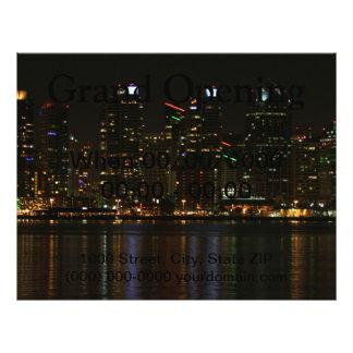 San Diego Skyline-Nacht Flyer