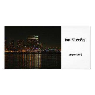 San Diego Skyline-Nacht Foto Grußkarte