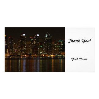 San Diego Skyline-Nacht Photokarten