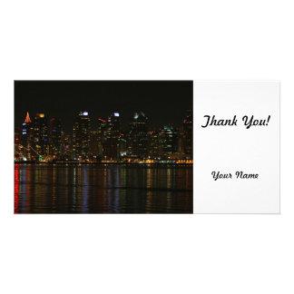 San Diego Skyline-Nacht Fotokartenvorlage