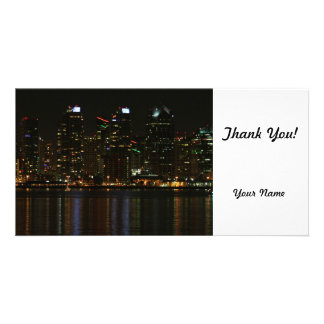 San Diego Skyline-Nacht Personalisierte Foto Karte