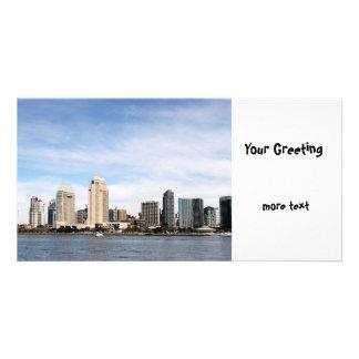 San Diego Skyline Photokarte