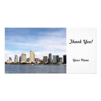 San Diego Skyline Photokartenvorlage
