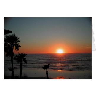 San Diego Sonnenuntergang am pazifischen Strand Karte