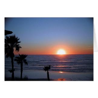 San Diego Sonnenuntergang an pazifischem Strand 2 Karte