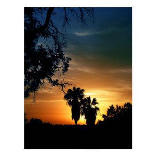 San Diego Sonnenuntergang Postkarte