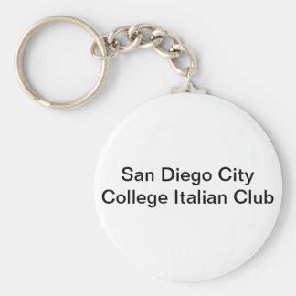 San Diego Stadt-Uni-Italiener-Verein Standard Runder Schlüsselanhänger