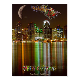 San Diego Weihnachtspostkarte Postkarte