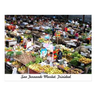 San Fernando Markt, Trinidad-Postkarte Postkarte