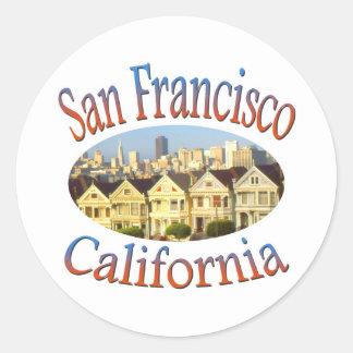 San Francisco Alamo Quadrat Runder Aufkleber
