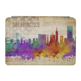 San Francisco, Aquarell-Stadt-Skyline CAs | iPad Mini Cover