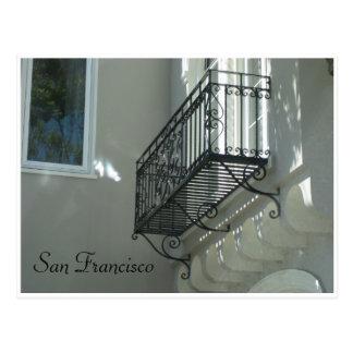 San Francisco Balkon zwei Postkarte