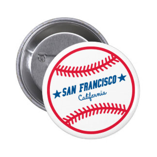 San Francisco Baseball Runder Button 5,1 Cm
