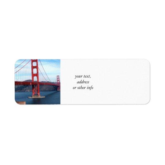 San- Francisco Baybrücke Rücksendeetikett