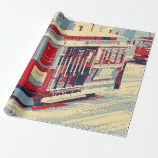 San Francisco blaues Rot Geschenkpapierrolle