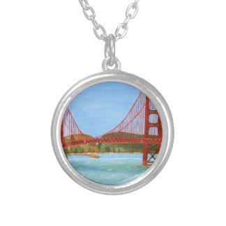 San Francisco Brücke Versilberte Kette