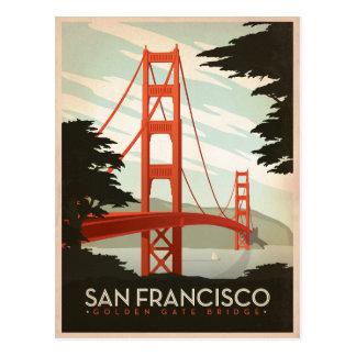 San Francisco, CA - Golden gate bridge Postkarte
