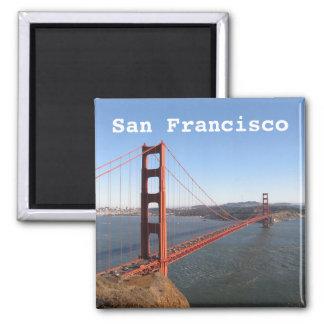 San Francisco CA, Golden Gate Brücke Quadratischer Magnet