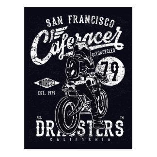 San Francisco Café-Rennläufer-Motor Kalifornien Postkarte
