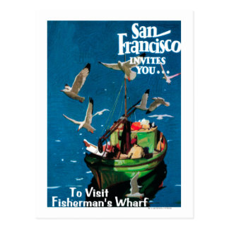 San Francisco, CaliforniaFishermans Kai Postkarte