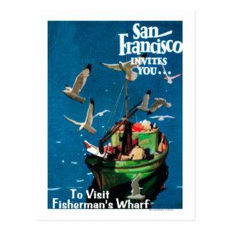 San Francisco, CaliforniaFishermans Kai Postkarten