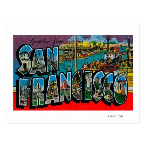 San Francisco, CaliforniaLarge Buchstabe-Szenen Postkarten