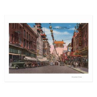 San Francisco, CAView von Chinatownhauptstraße Postkarte