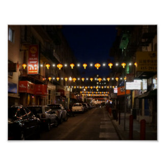 San Francisco Chinatown Laternen-Plakat Poster
