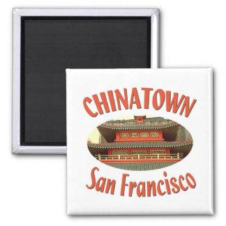 San Francisco Chinatown Quadratischer Magnet