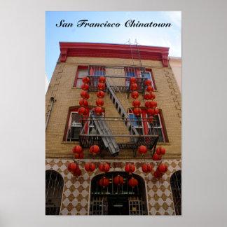 San Francisco Chinatown Tempel-Plakat Poster
