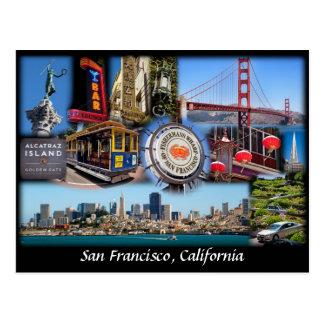 San Francisco Collage Postkarten