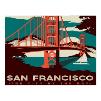 San Francisco der Vintagen retro Tourist Postkarte