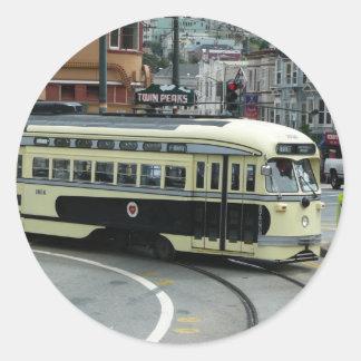 San Francisco Drahtseilbahn-Aufkleber Runder Aufkleber