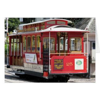 San Francisco Drahtseilbahn Grußkarte