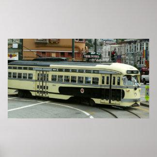 San Francisco Drahtseilbahn-Druck Posterdruck