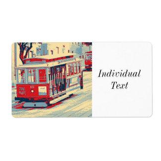 San Francisco, Drahtseilbahn Großer Adressaufkleber